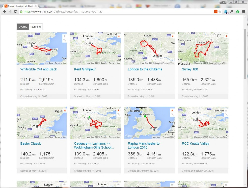 bikes and things | Strava routes > RideWithGPS